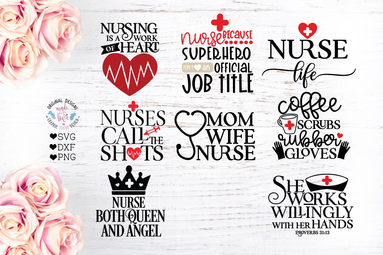 Nurse SVG - Nursing Quotes Bundle example image 1
