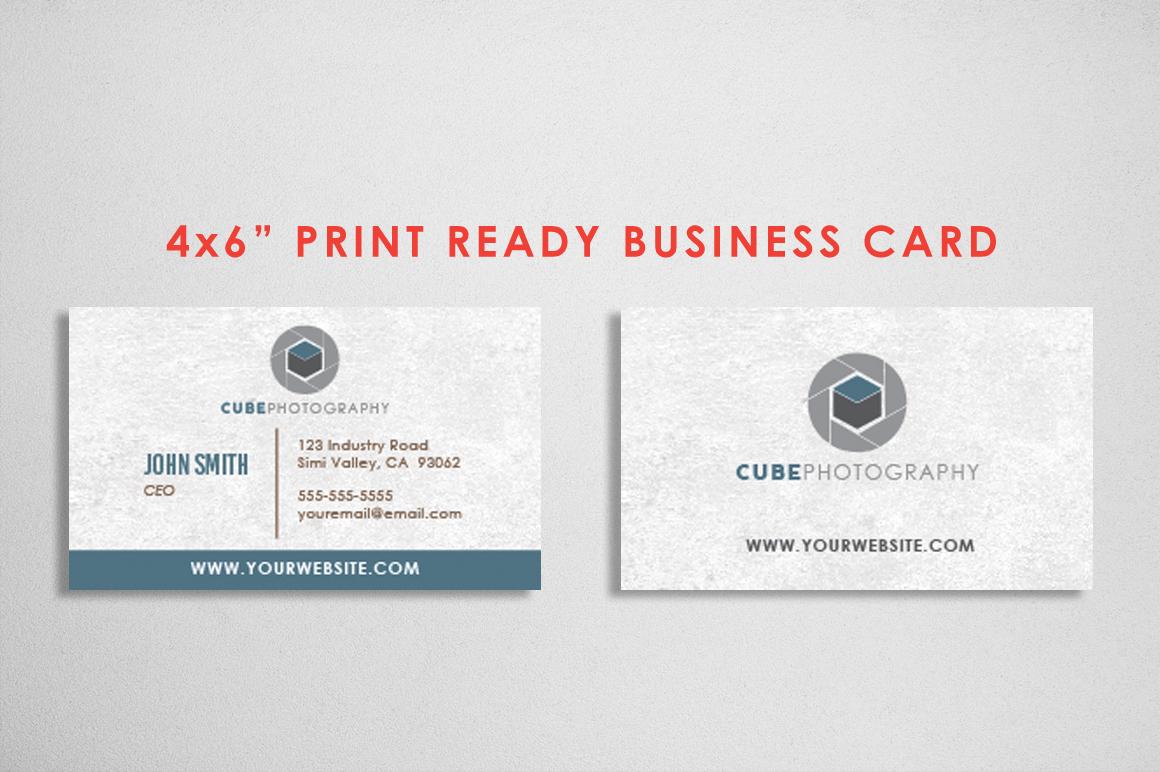 Photography Logo & Bcard Bundle example image 2