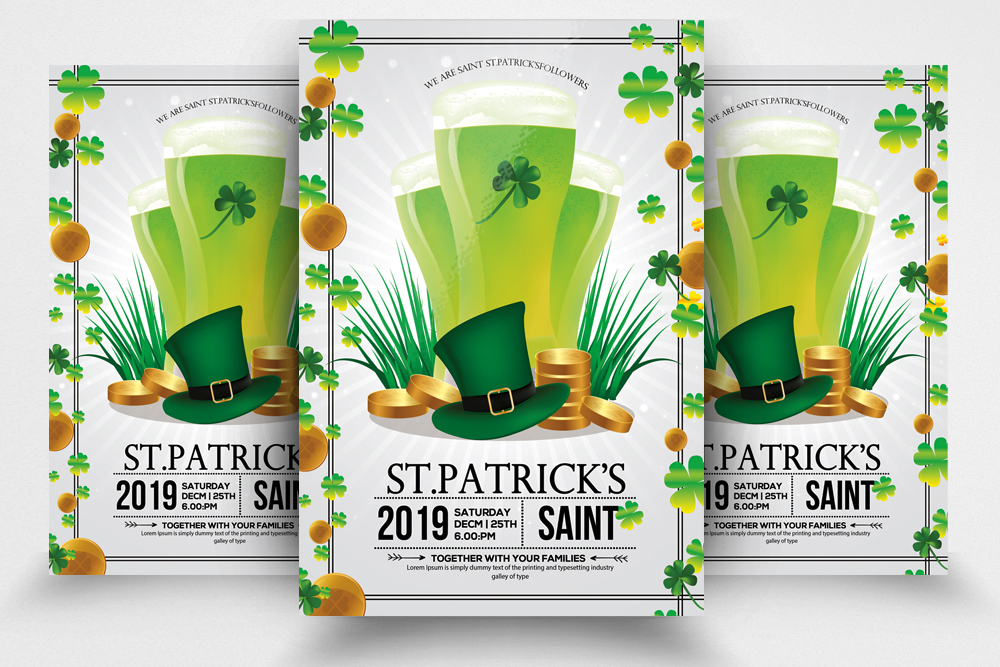 4 St. Patrick's Day Flyers Bundle example image 2