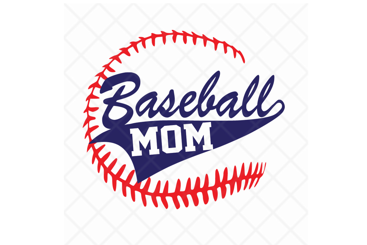 Baseball Mom,SVG Cut File,Baseball svg example image 1