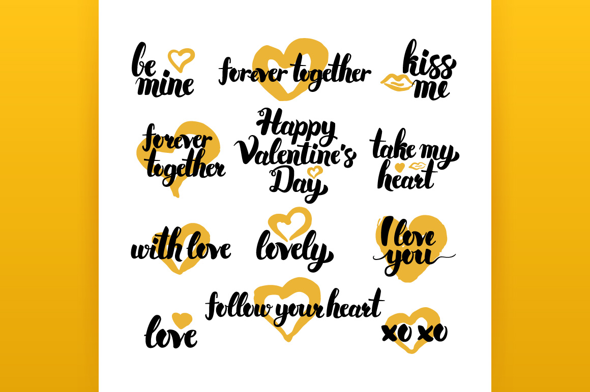 Valentines Day Hand Drawn Quotes example image 4