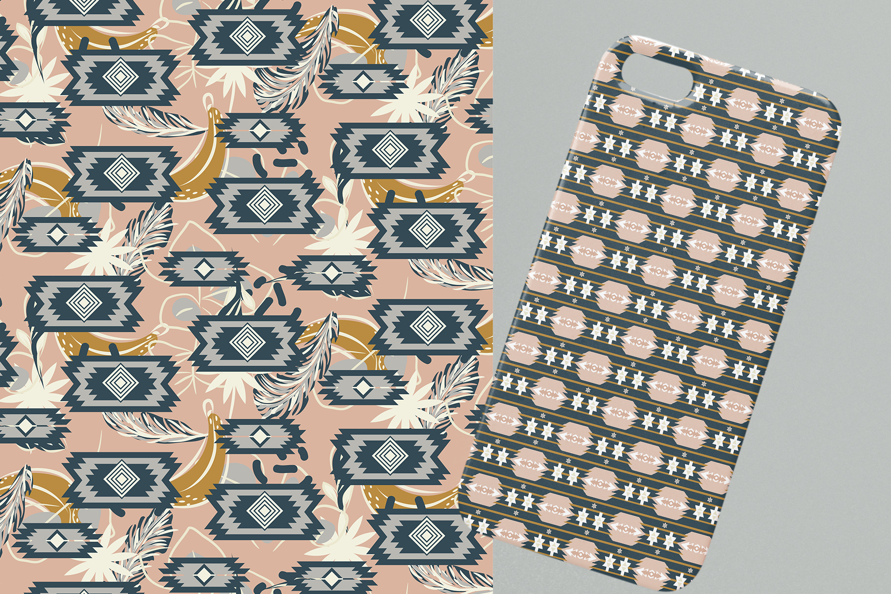 Ethnic Motifs- Seamless Patterns example image 6