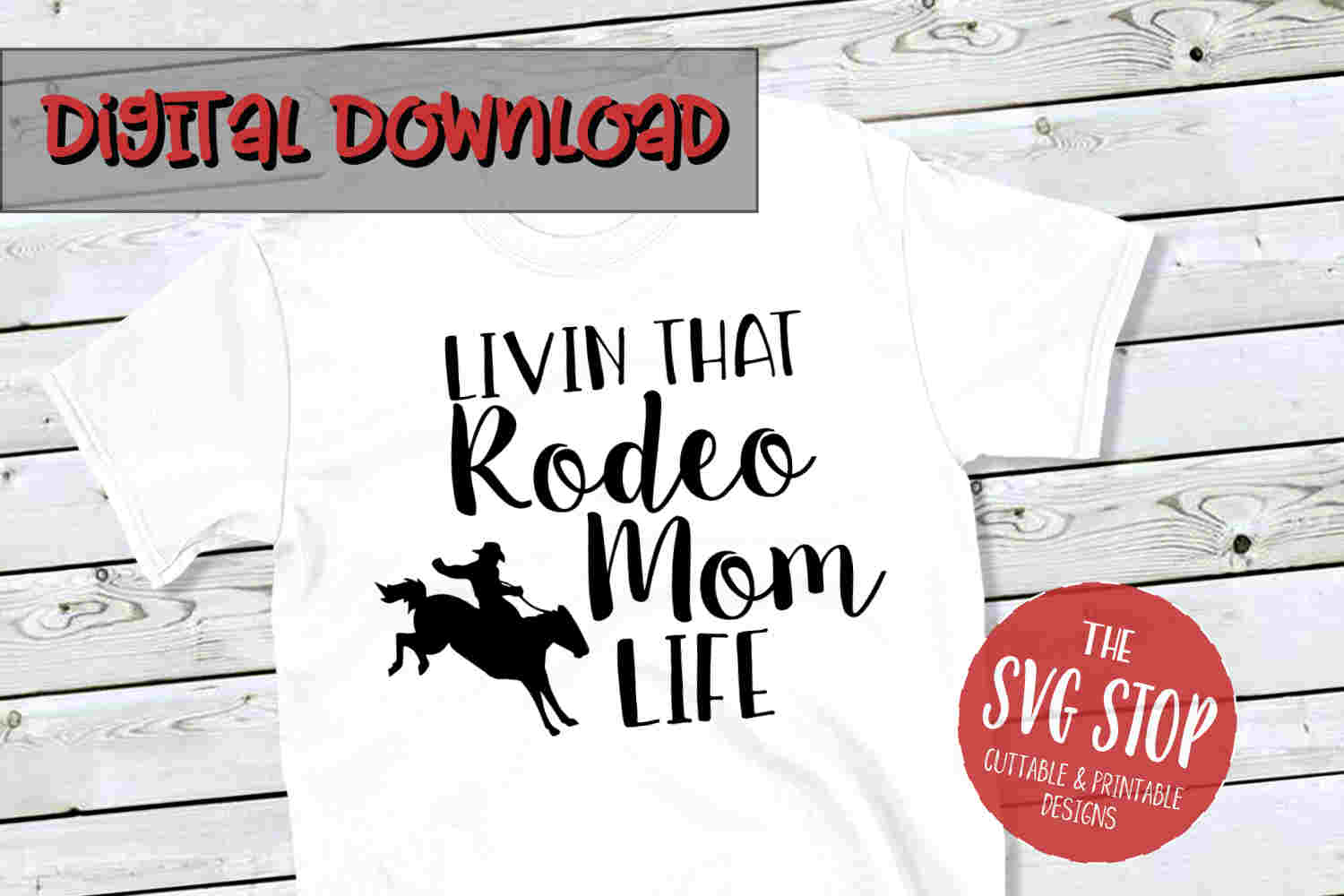 Rodeo Mom-SVG, PNG, DXF example image 1