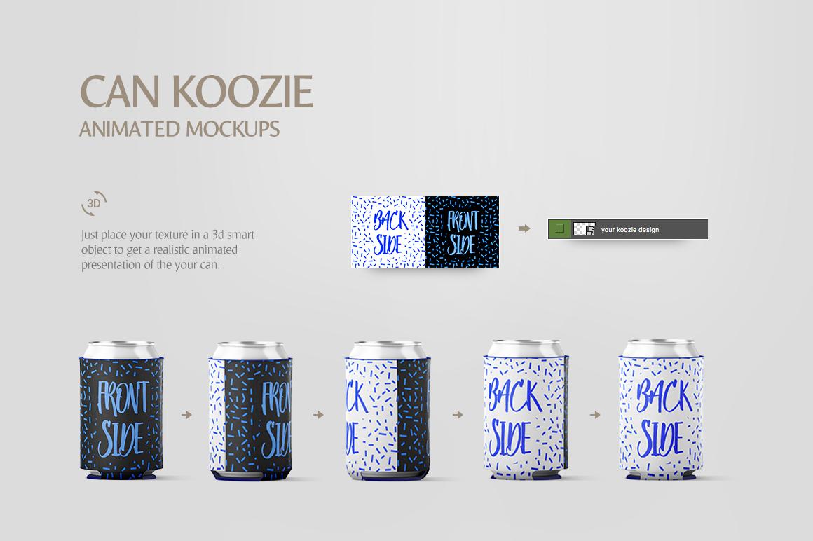 Can Koozie Animated Mockup example image 6