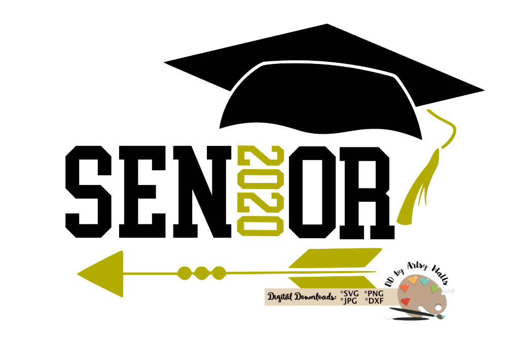 Senior 2020 svg cut file Senior Graduation cap 2020 svg Grad