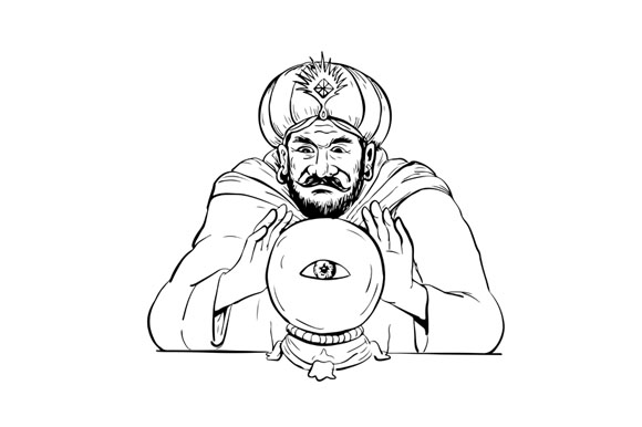 Fortune Teller Crystal Ball Drawing example image 1