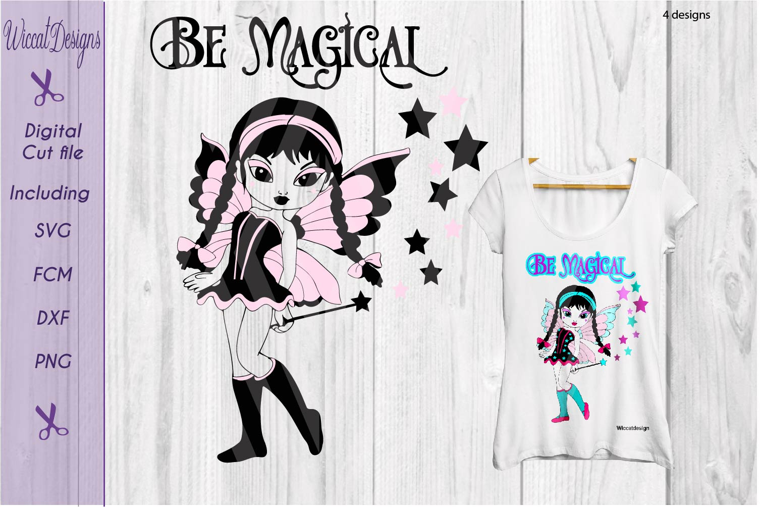 Fairy svg, gothic fairy, magical svg, Girls svg, t shirt svg example image 2