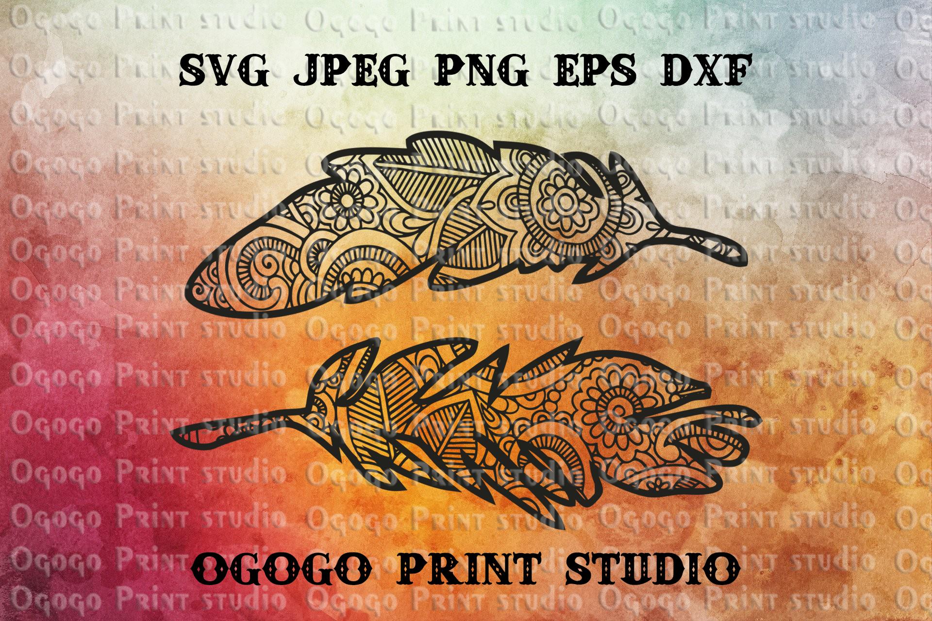 Feather SVG Zentangle SVG Plumelet SVG Native American