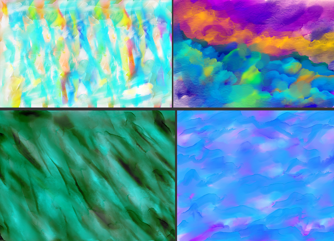 50 Watercolor Backgrounds Bundle example image 6