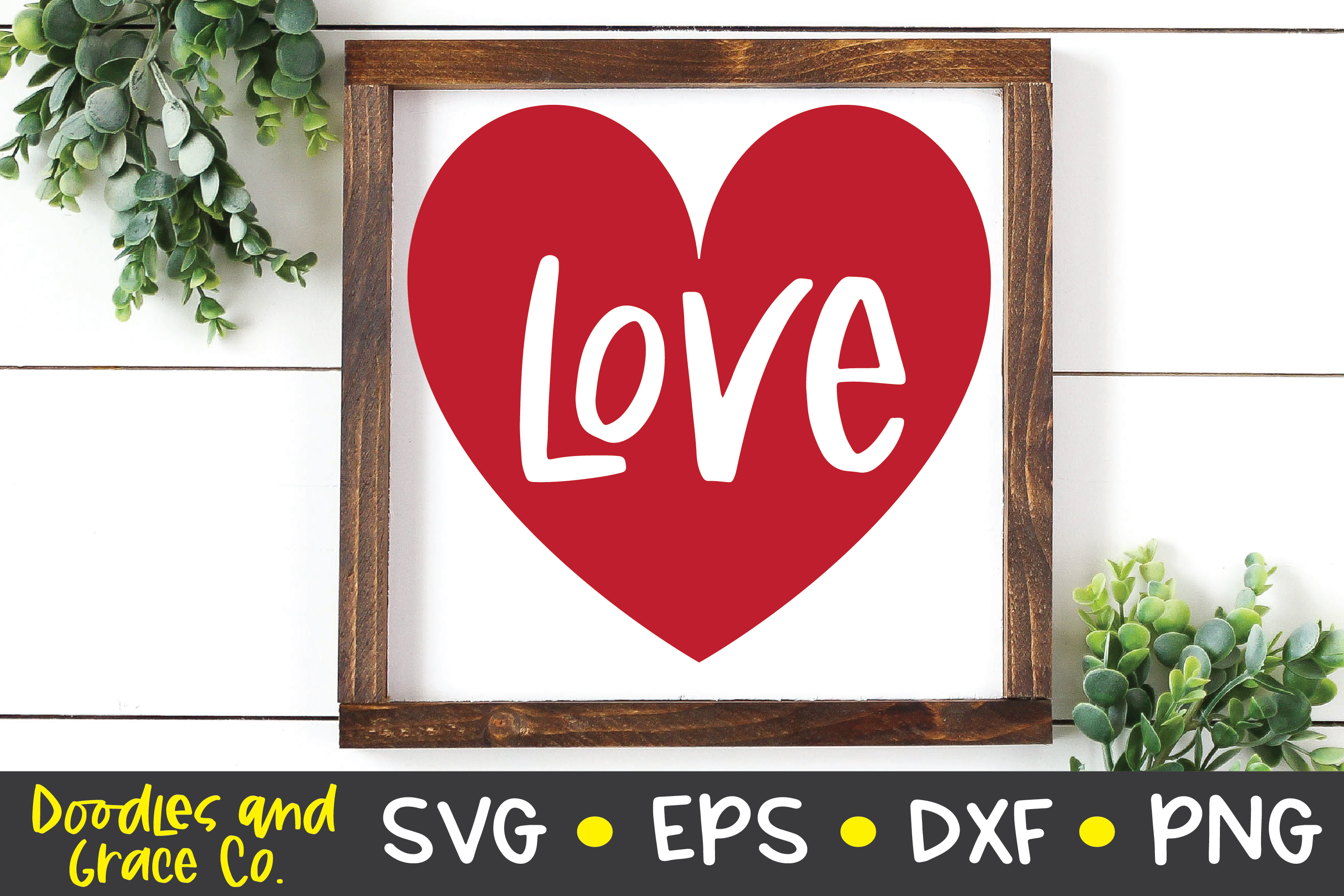 Love Heart SVG - DXF - EPS - PNG example image 4
