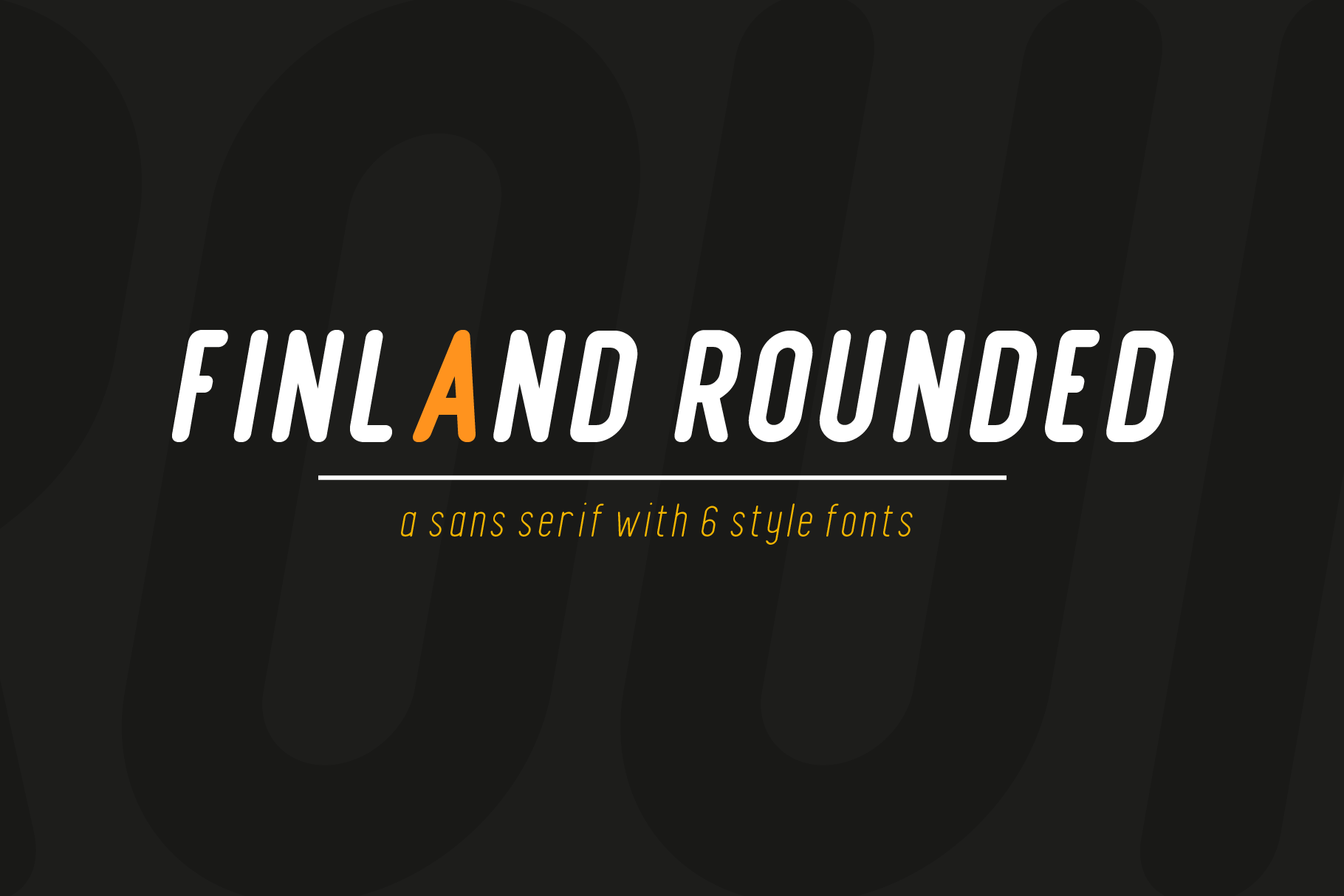 Finland Rounded - Font Family example image 5