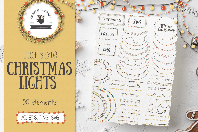 Flat Style Christmas Lights example image 1