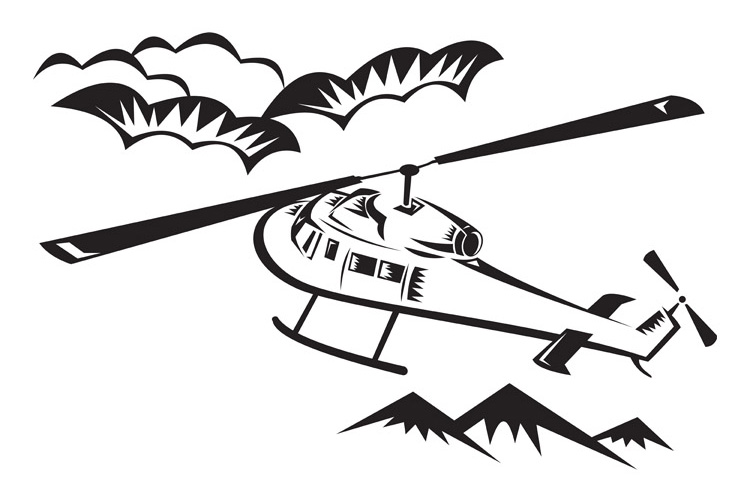 helicopter chopper flying example image 1