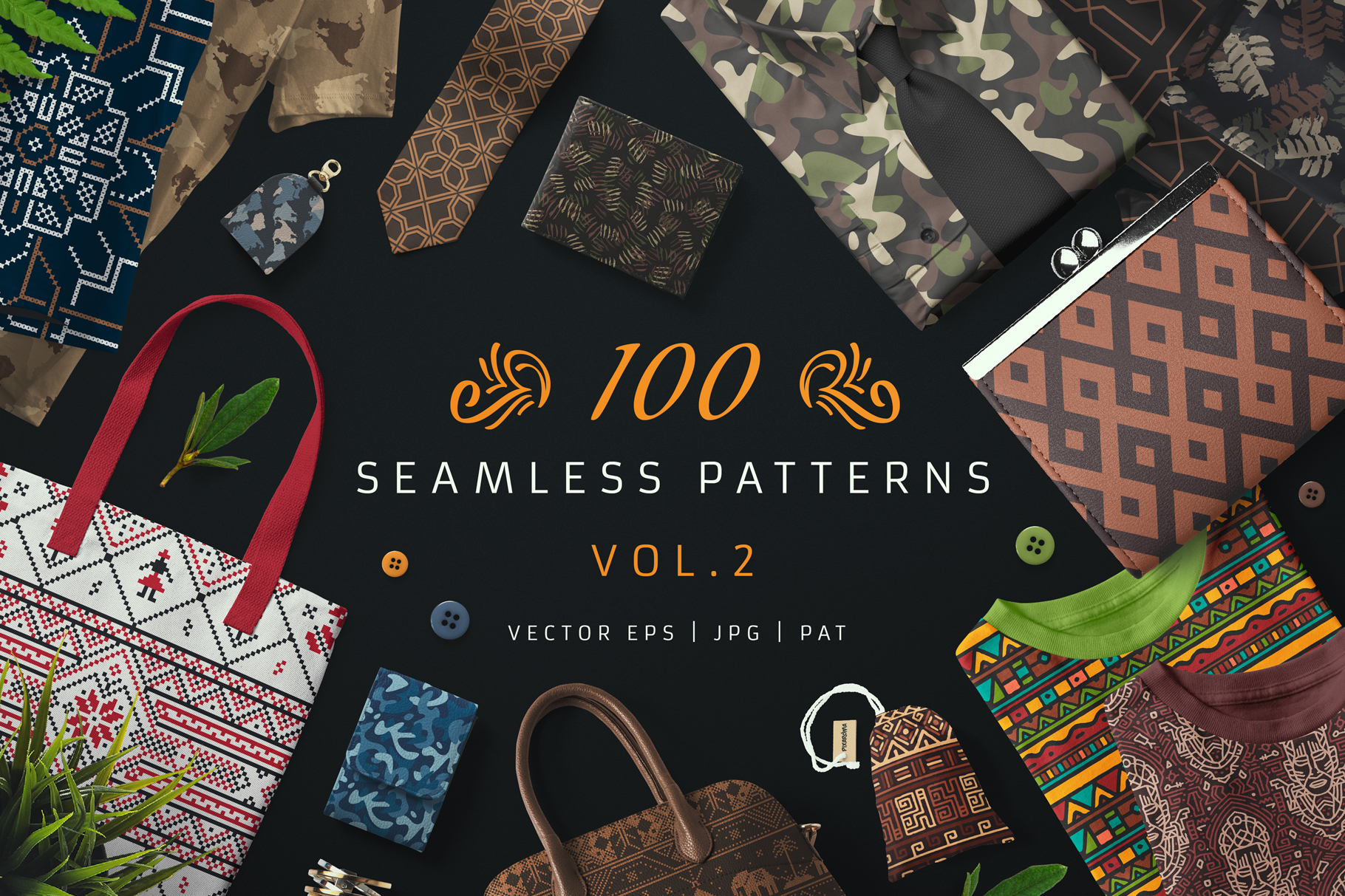 100 Seamless Patterns Vol.2 example image 1