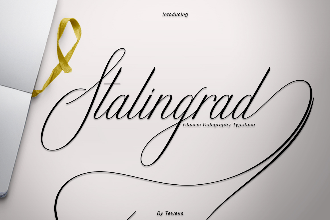 Stalingrad Classic Calligraphy example image 2