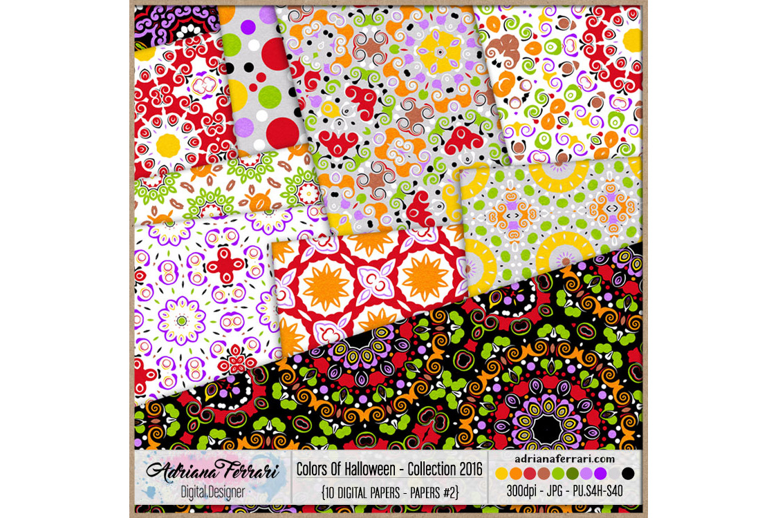 Colors Of Halloween - Collection 2016 - Paper 2 example image 2