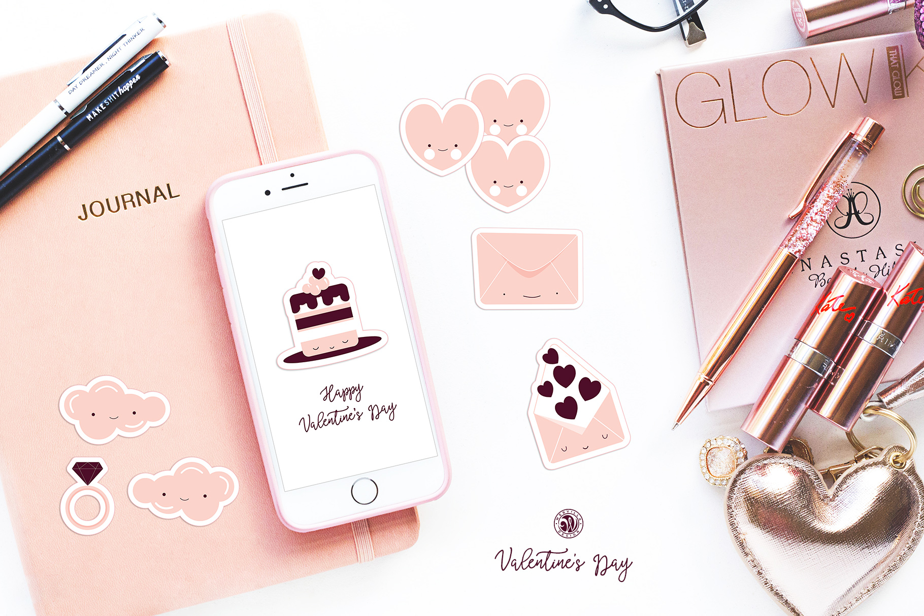 Cute Valentine's Day Stickers example image 5