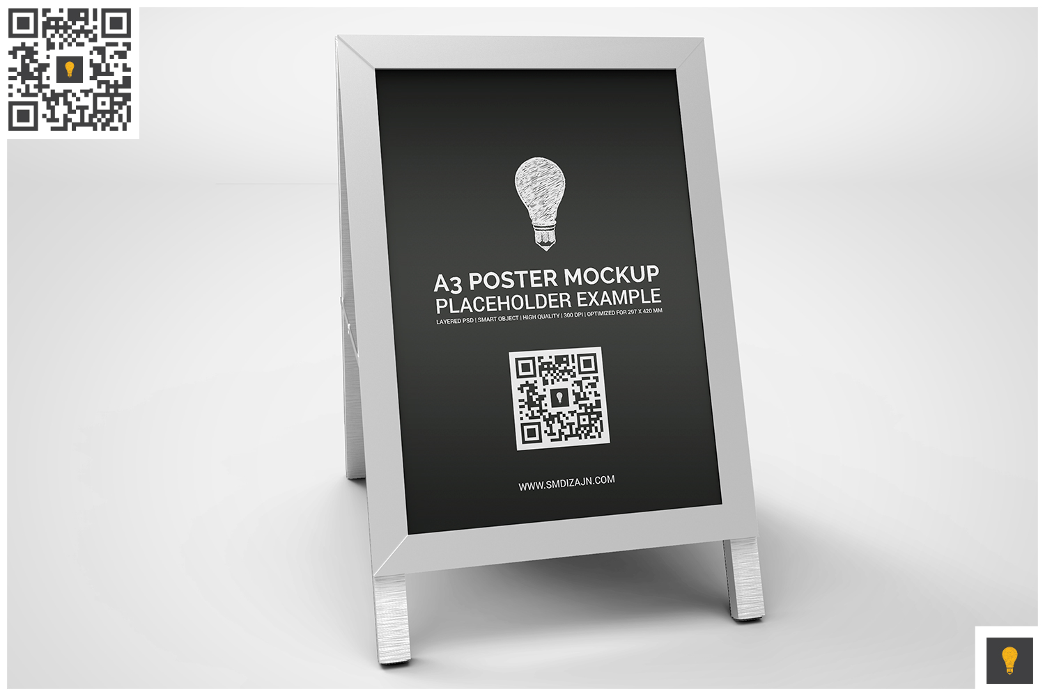 Poster Stand Display Mockup example image 2