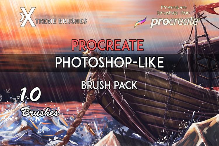 Procreate Photoshop-like Brushes example image 1