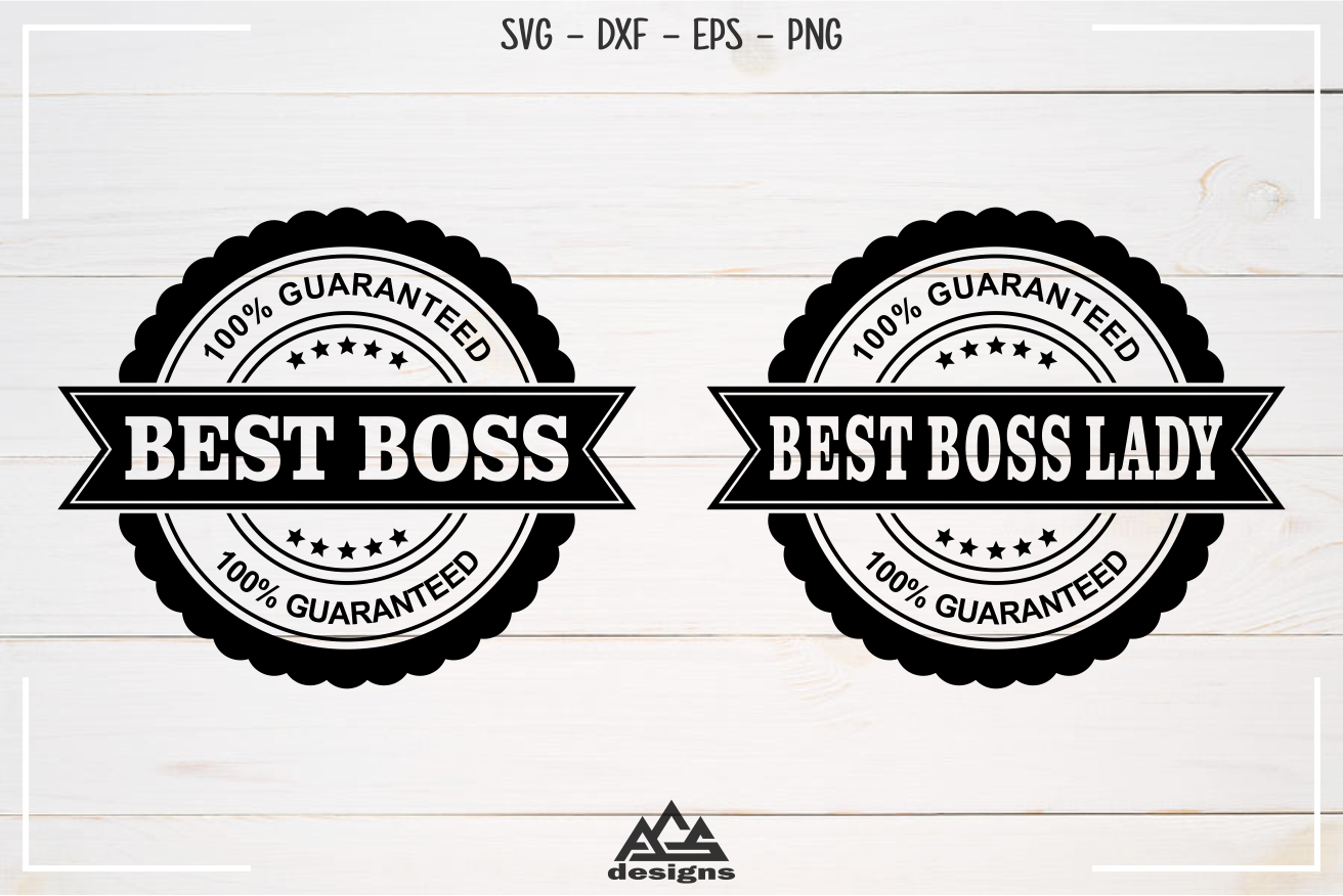 Best Boss Best Boss Lady Stamp Svg Design example image 2