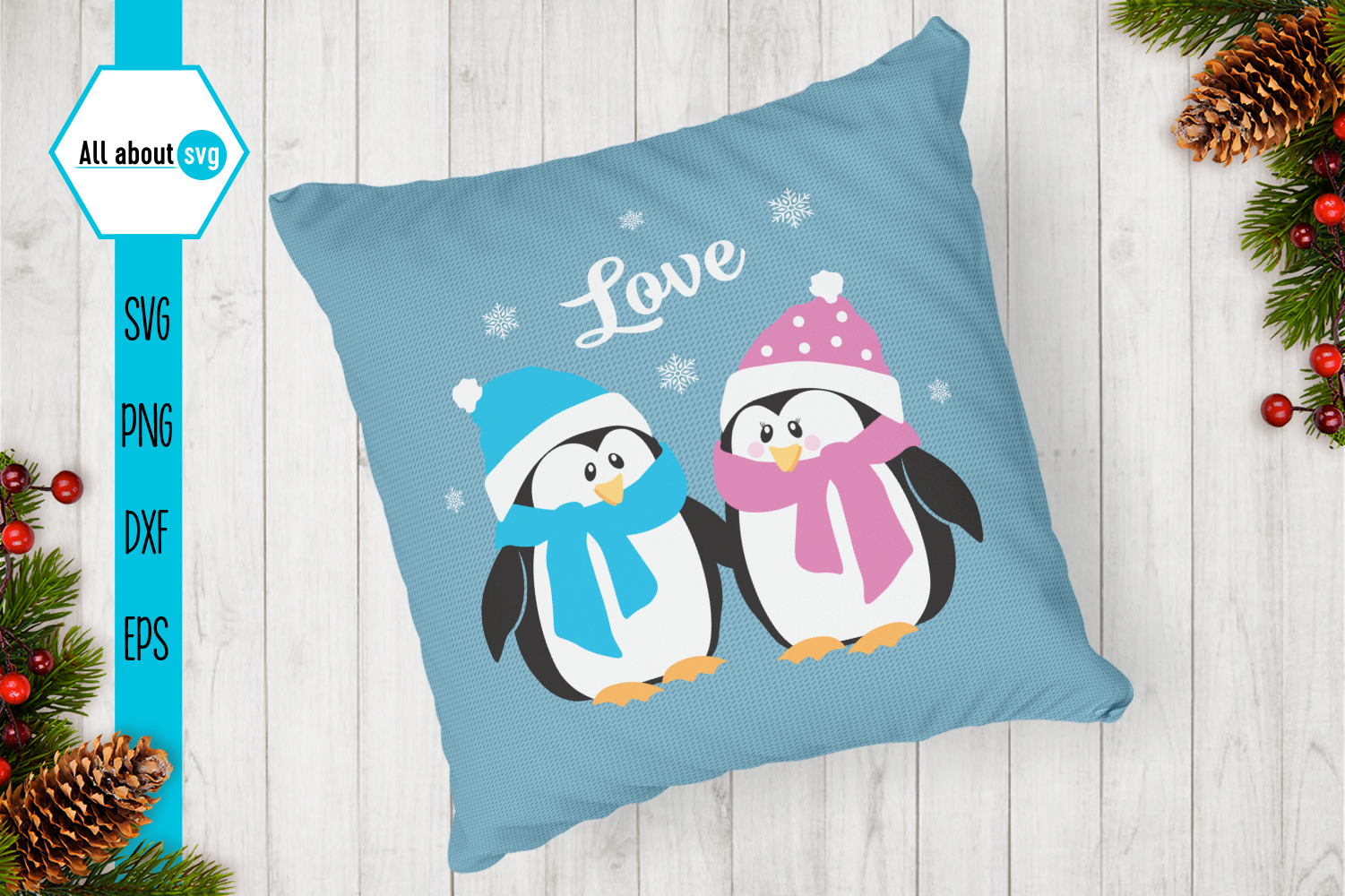 Penguins Love Svg example image 3