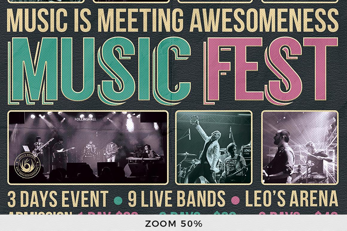 Music Festival Flyer Template V8 example image 7