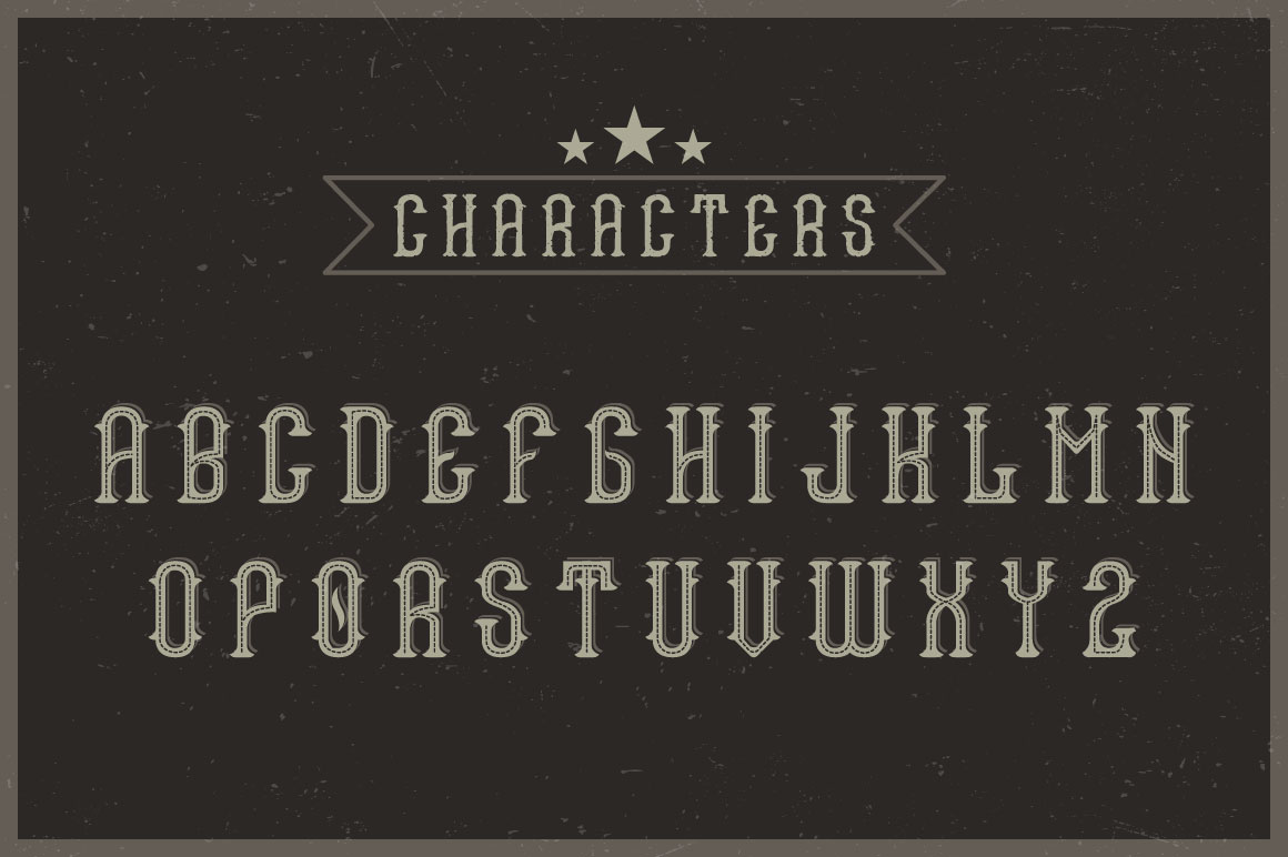 Tennessee honey font example image 2