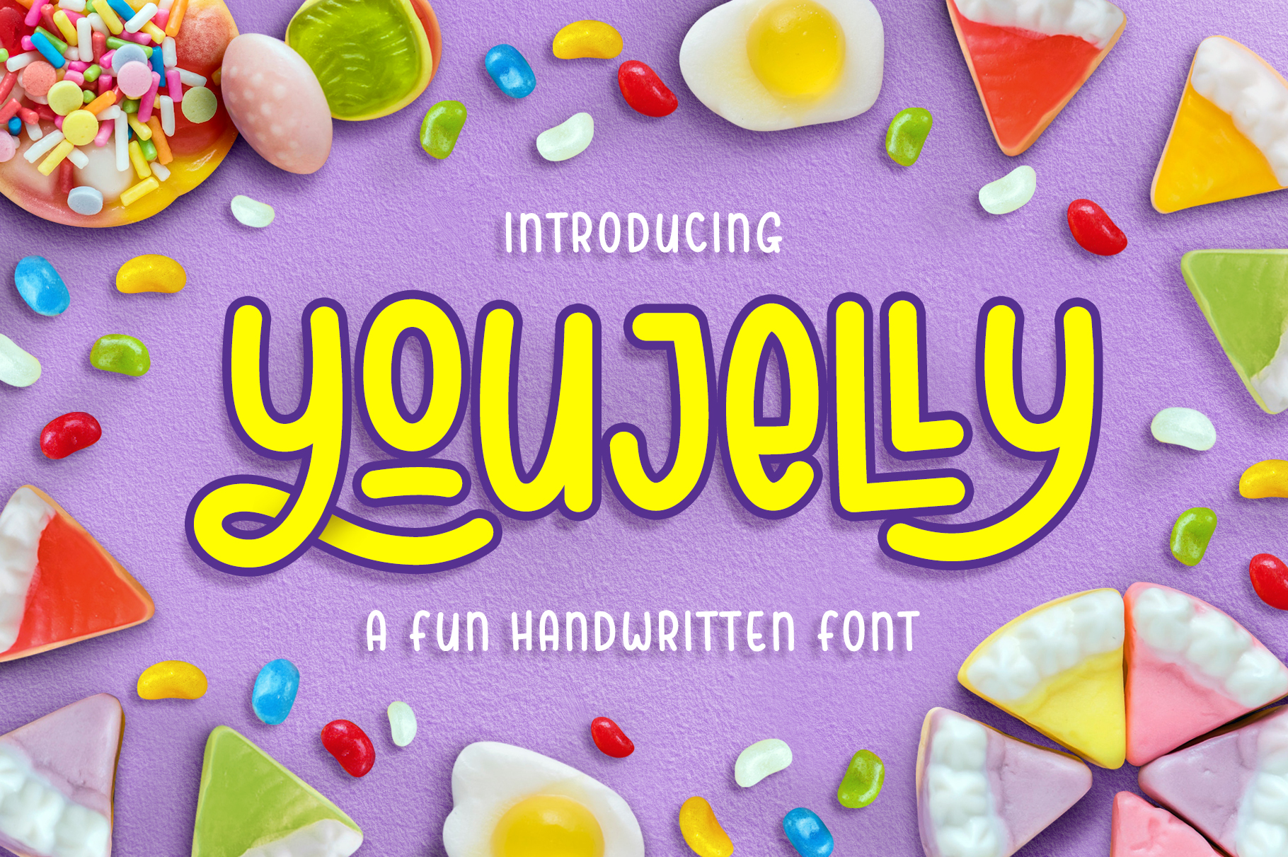 Youjelly - A Fun Handwritten Font example image 1