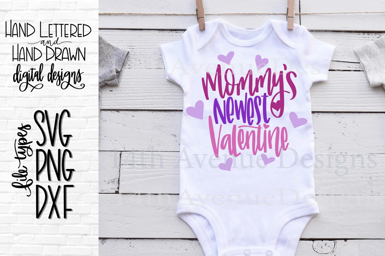 Mommy's Valentine SVG, First Valentine Cut File, Newborn SVG example image 1
