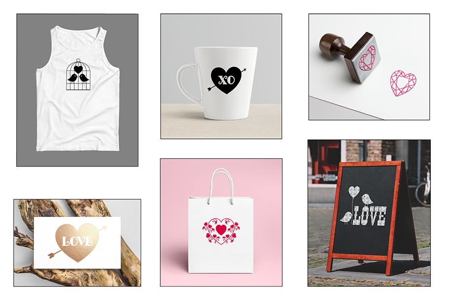 SVG Valentine's Day Silhouettes example image 3