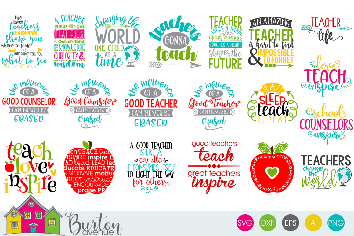 Teacher SVG Bundle example image 1