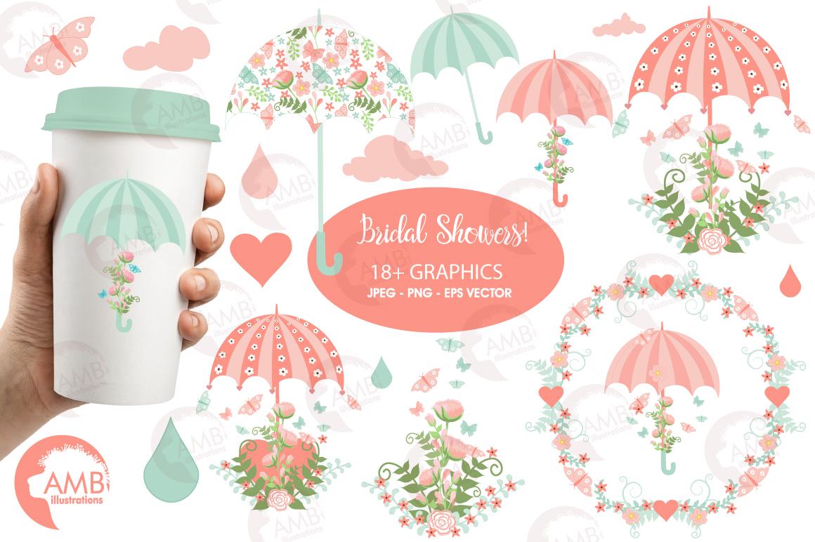 Bridal shower clipart, graphics, illust | Design Bundles