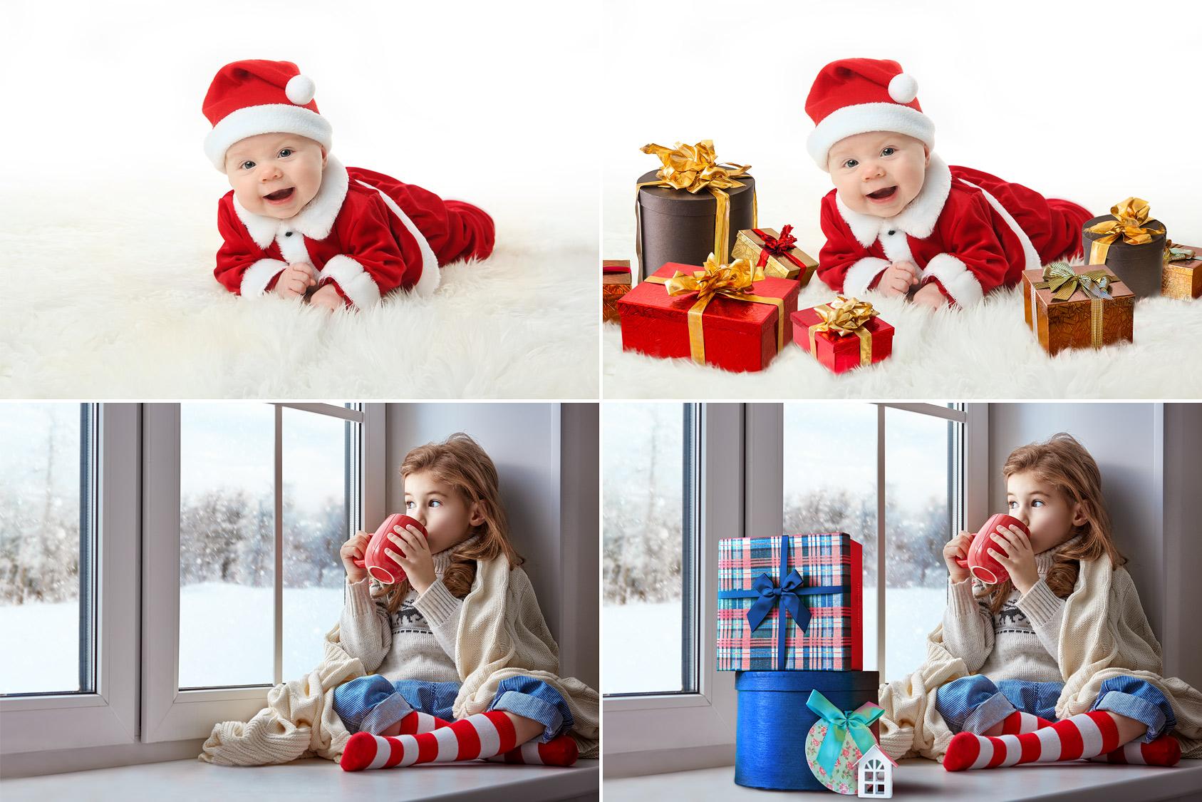 50 Gift Box Photo Overlays example image 2