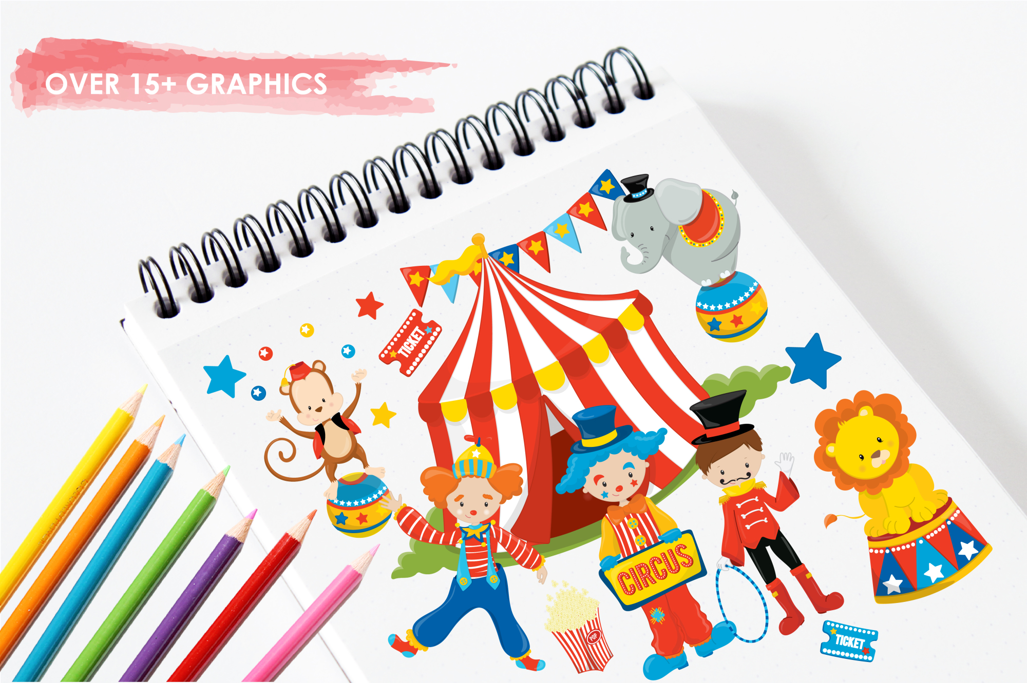 Circus Fun graphics and illustrations example image 3