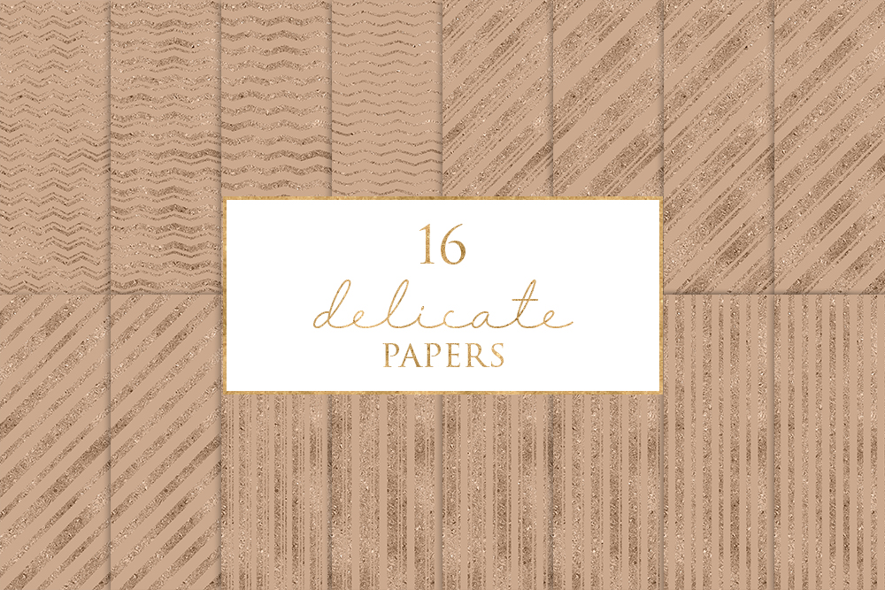 16 Delicate Digital Paper Pack example image 1