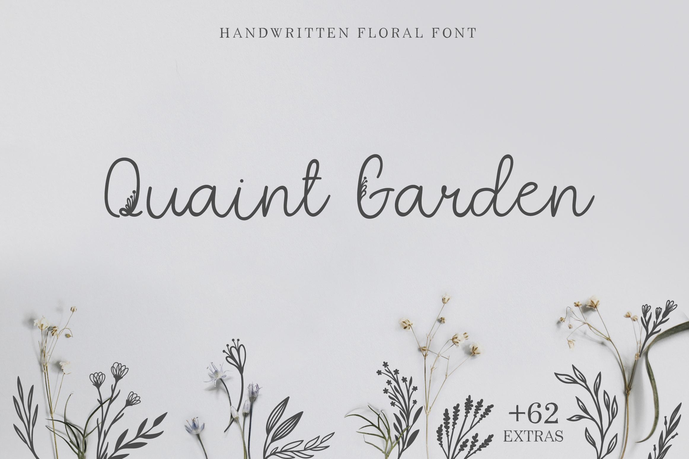 Quaint Garden Floral Font EXTRAS example image 1