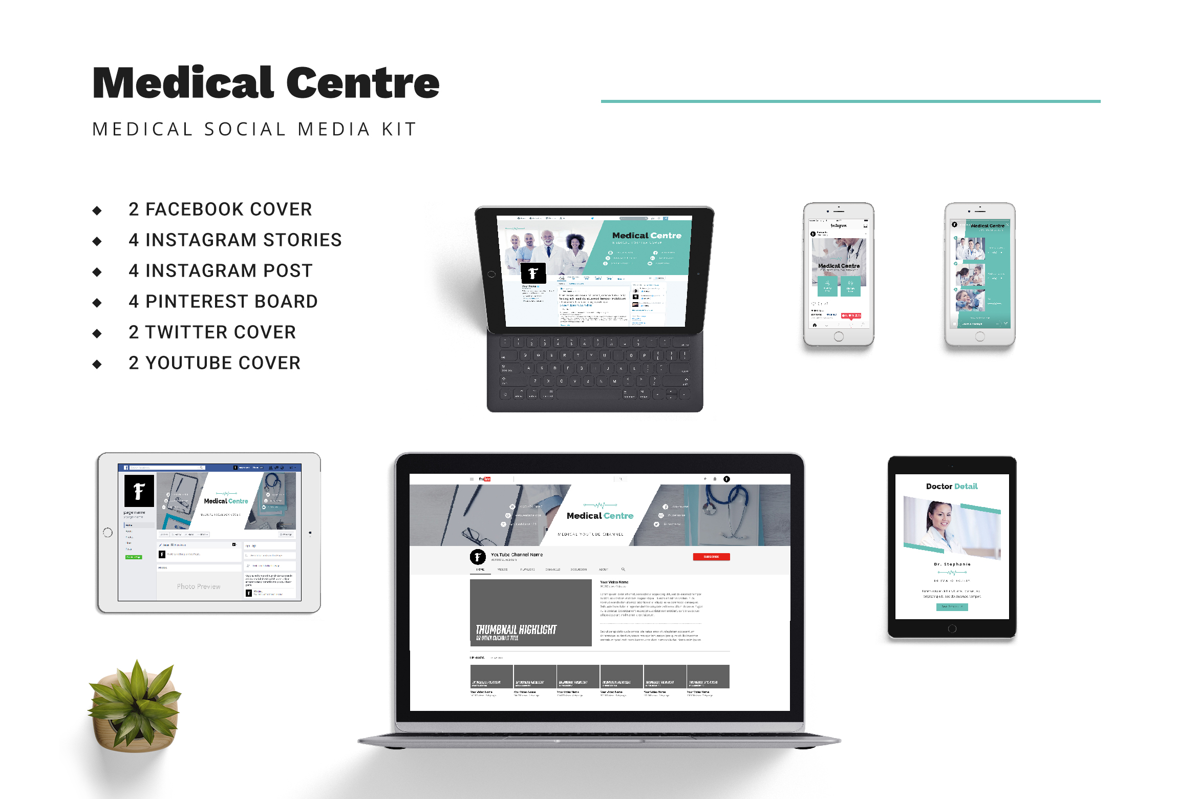 Medical Centre Social Media Kit example image 1