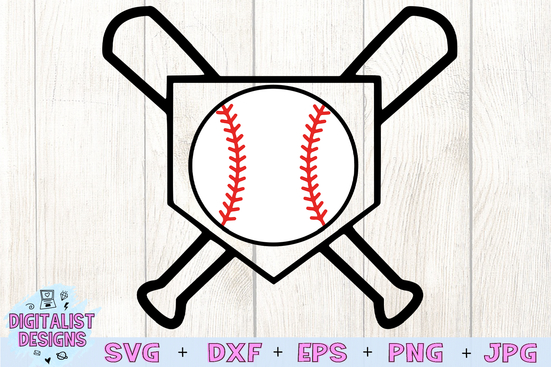 Baseball Bat SVG, Baseball SVG, Baseball Diamond SVG example image 3
