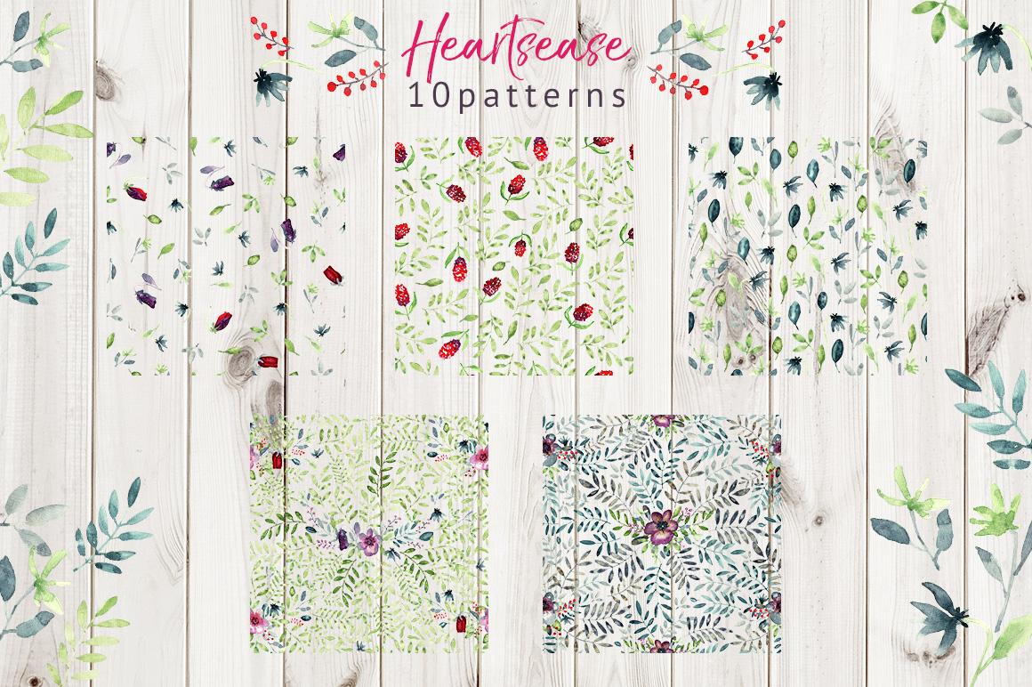 Heartsease pattern set example image 4