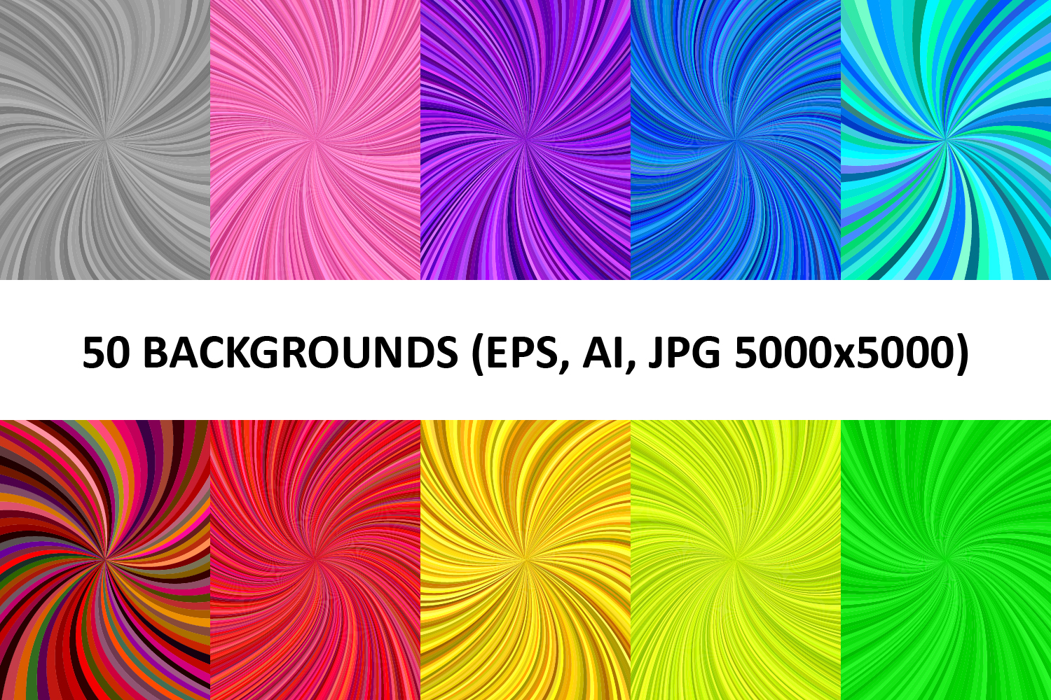 50 Spiral Backgrounds AI, EPS, JPG 5000x5000 example image 1