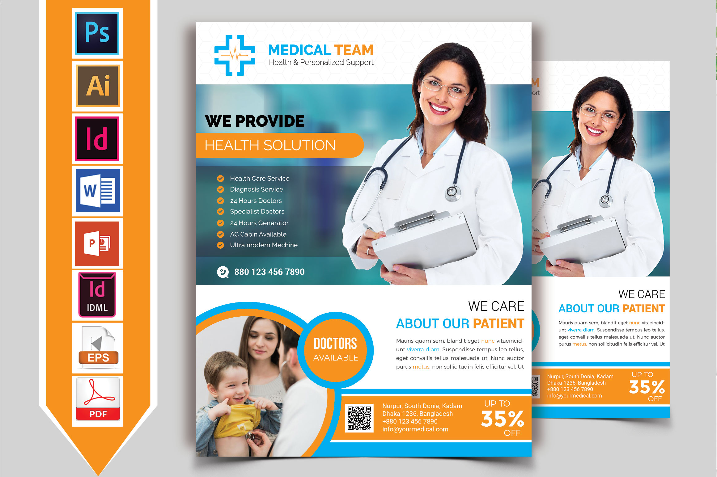 Doctor & Medical Flyer. Vol-08 example image 2
