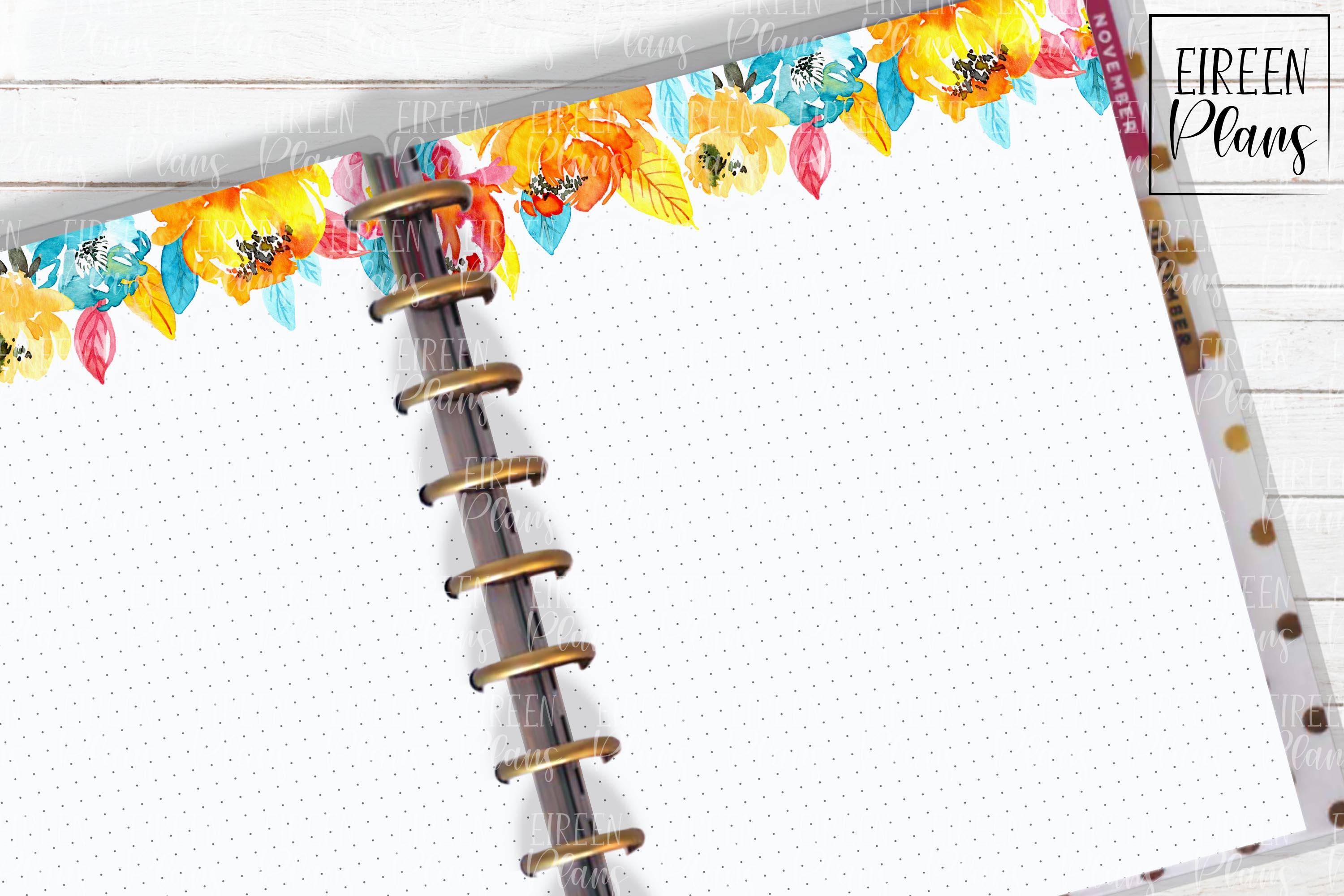 Set of bright floral notes for the Classic Happy Planner example image 1