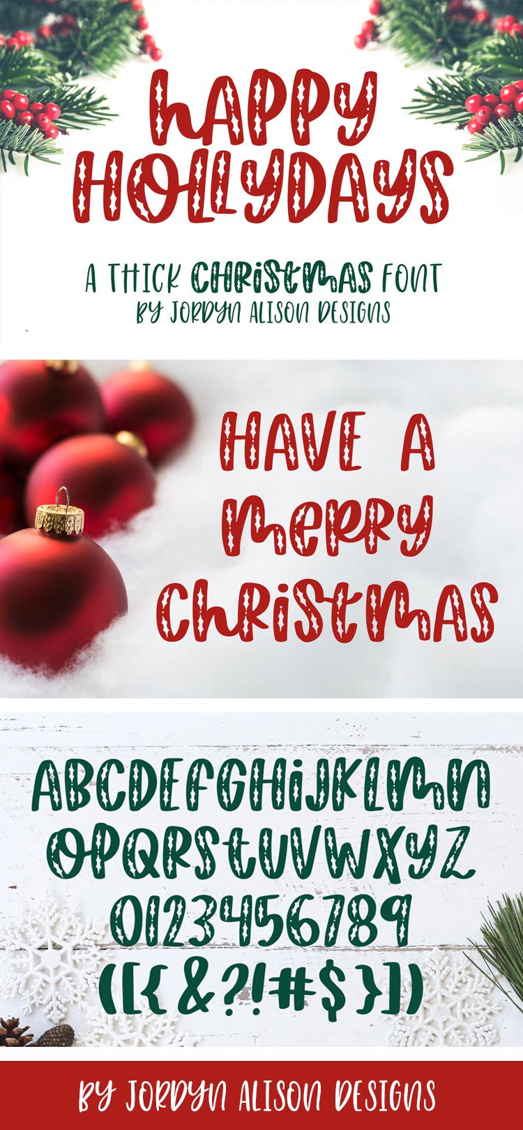 Happy Hollydays, A Christmas Mistletoe Font example image 10