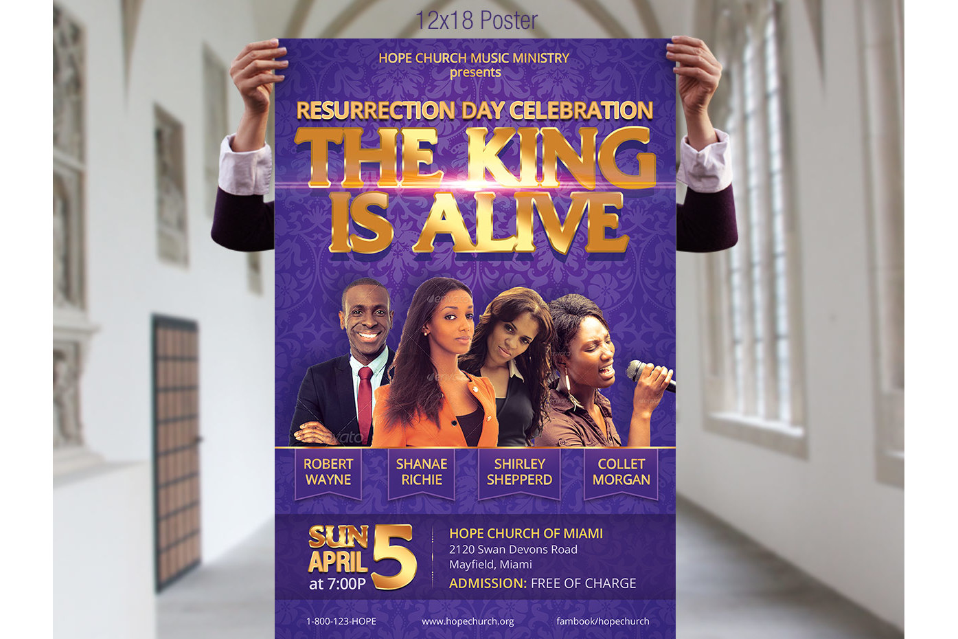 Resurrection Day Concert Flyer Poster Template example image 5