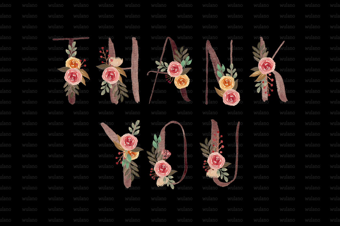Floral Monogram Letters example image 6