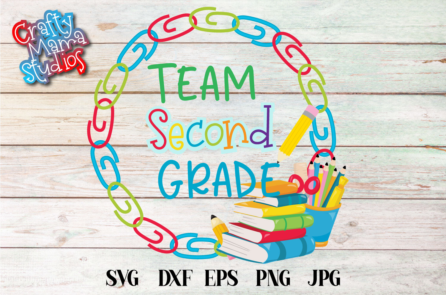 Team Second Grade SVG, Second Grade Tribe Sublimation example image 1