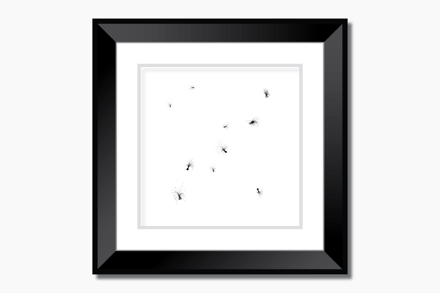 Little Feathers Ink Art, A1, SVG example image 9