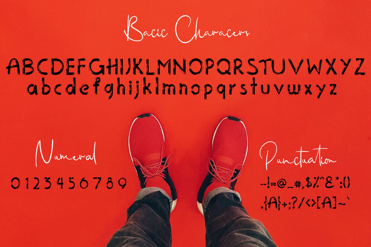 The Tiny brushy Font Digital Font example image 7