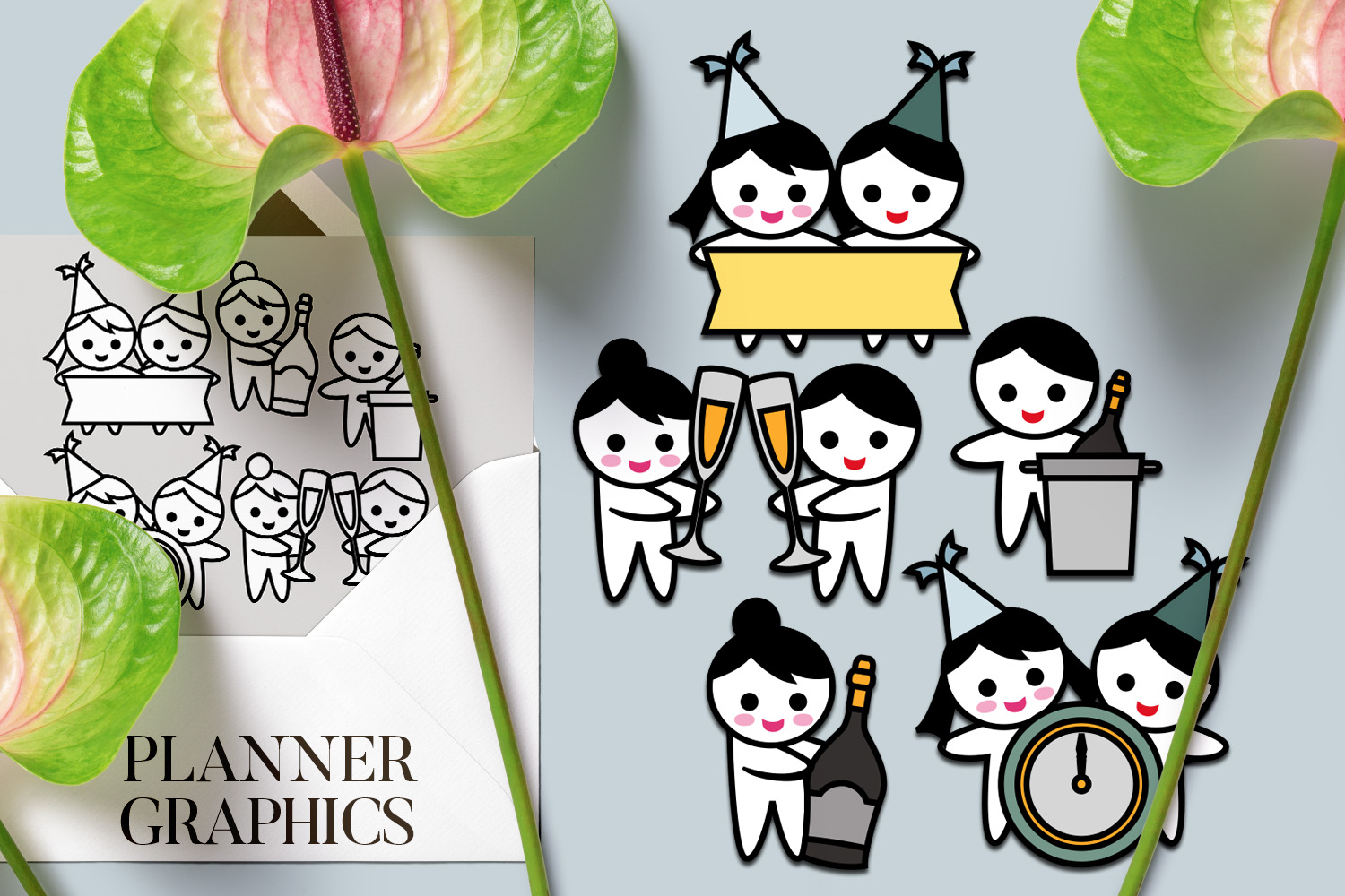 Holidays Bundle - Planner Graphic Illustrations example image 15