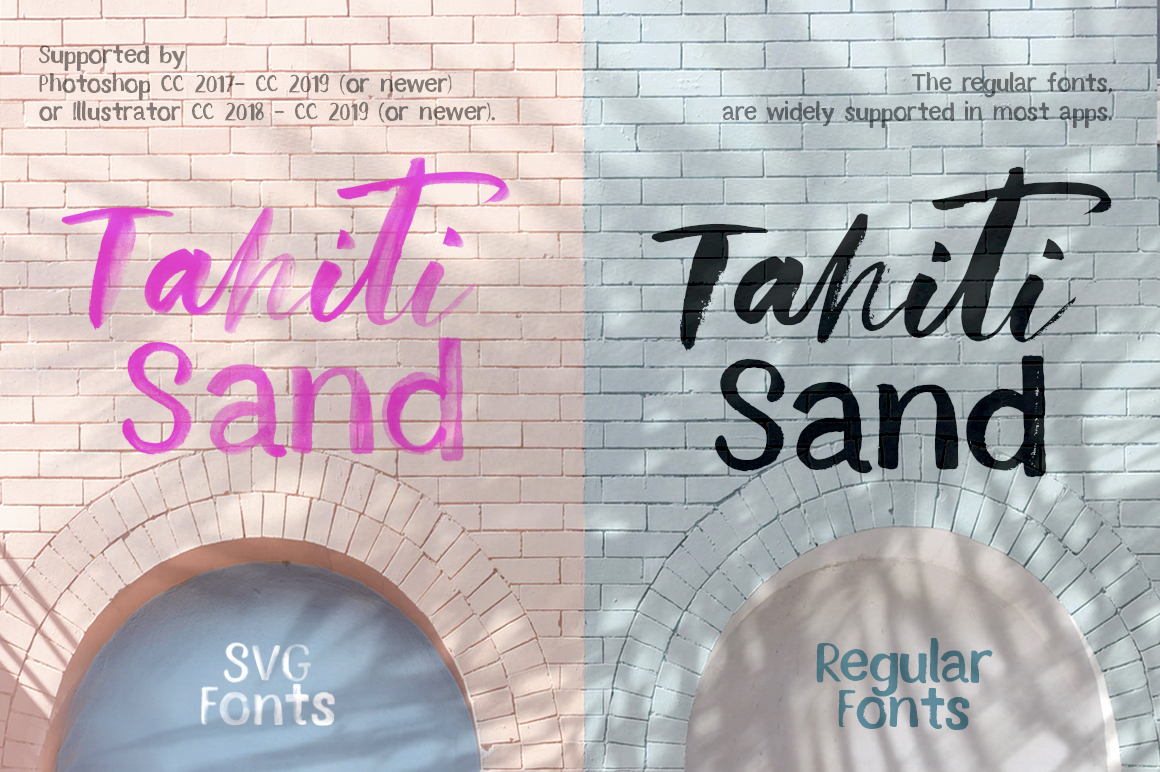 Tahiti Sand. Fonts and Graphics. example image 3